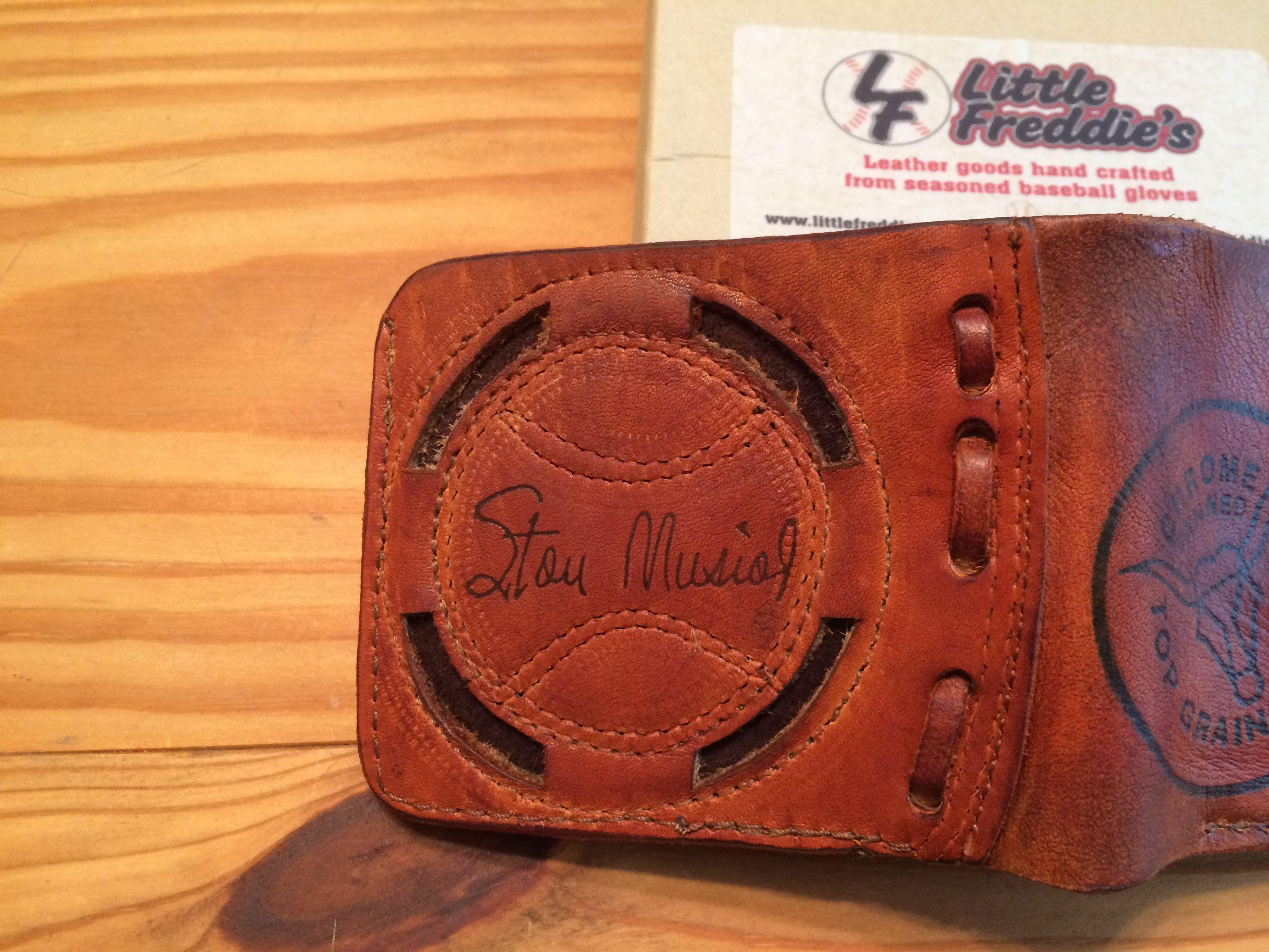 Recycled baseball glove wallet - Baseball Gloves