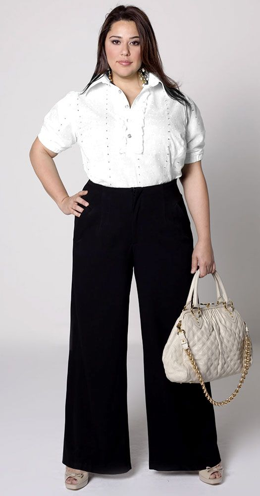 Inverted Triangle Body Shape – Plus Size Fashion Tips | Wide leg ...