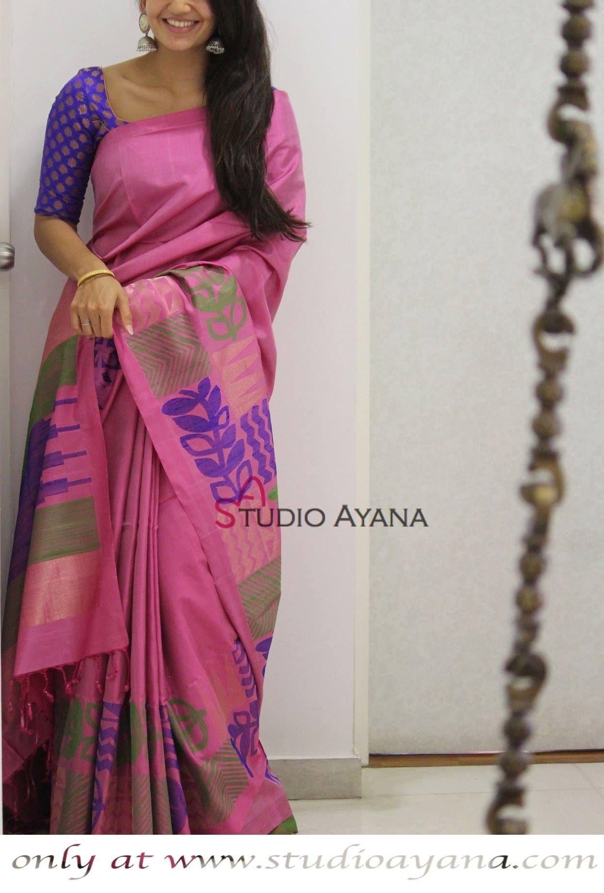 13e5045e9 Thamarai - Handcrafted Kanjivaram Silk Saree from Studio Ayana!   kanjivarams  silks  sarees