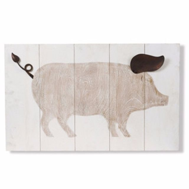 This Pig Wall Art Makes A Great Addition To Your Country Decor Quality Mango Wood With A Painting Of A Pig The Tail And Ear Ar Pig Wall Art Pig Art