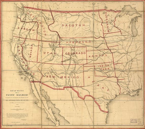 Map Of Western US Railroads C Pacific By InterestingPhotos - Western us railroad map