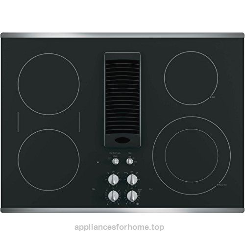 Ge Profile 30 Downdraft Electric Cooktop Glass Top With Stainless Steel Trim Pp9830sjss Check It Out Now Too Low Electric Cooktop Cooktop Ceramic Cooktop