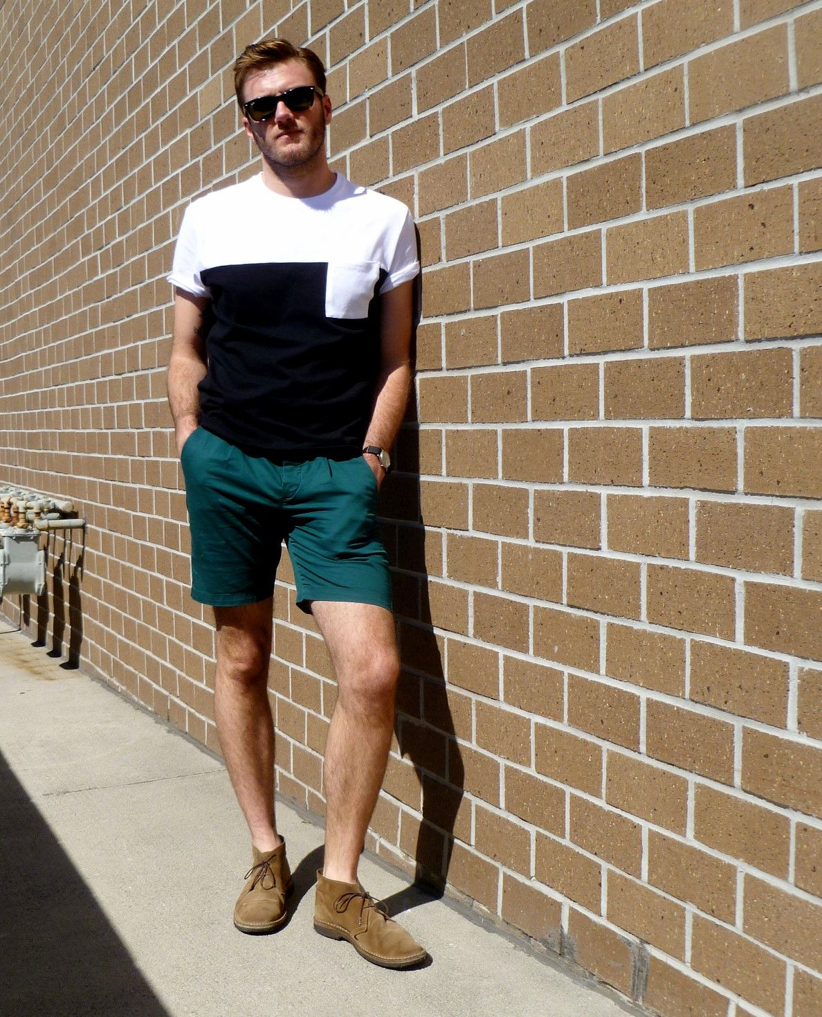 Mens Chukka Boots With Shorts Black and white tee 4 | Style: Men's ...