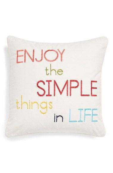 Levtex Enjoy The Simple Things In Life Pillow Nordstrom Pillows Levtex Enjoyment