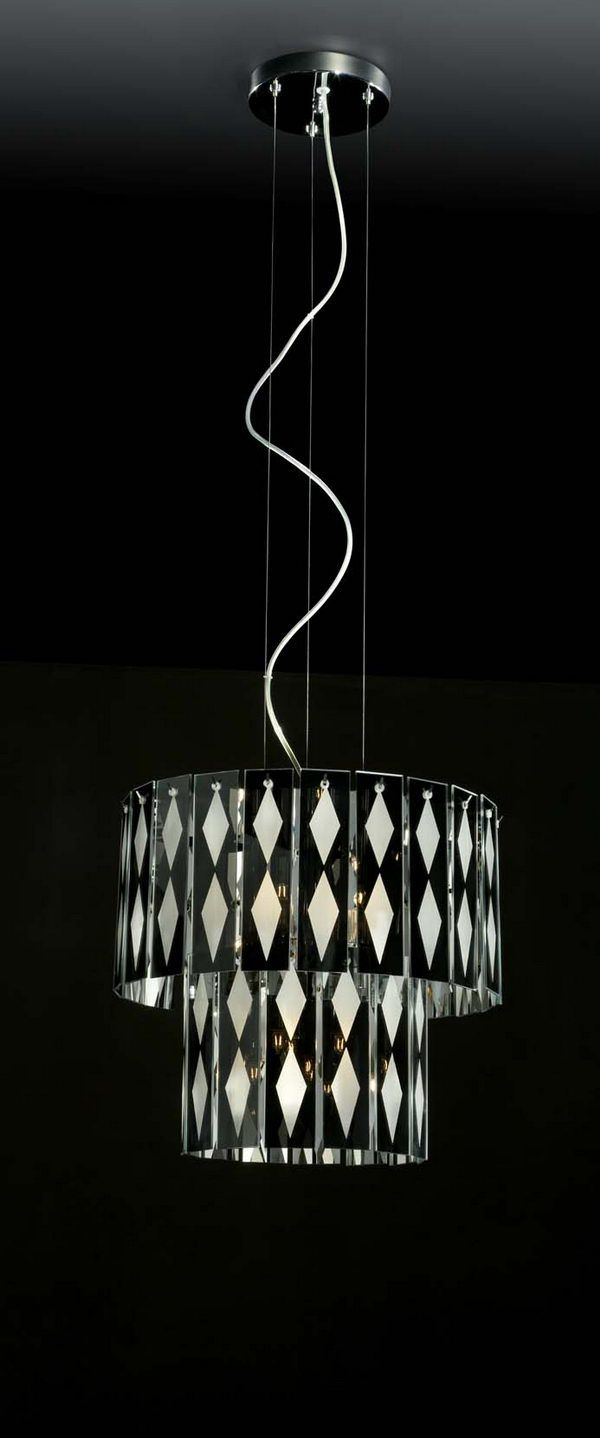 2 Tier Cylinder Black And White Glass Pendant Lamp 3dsmax Model Download Free Glass Pendant Lamp Pendant Lamp White Glass