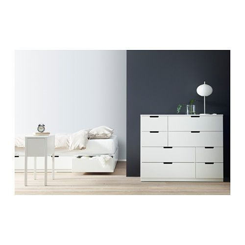 nordli bed frame with storage white bed frames storage and bedrooms. Black Bedroom Furniture Sets. Home Design Ideas