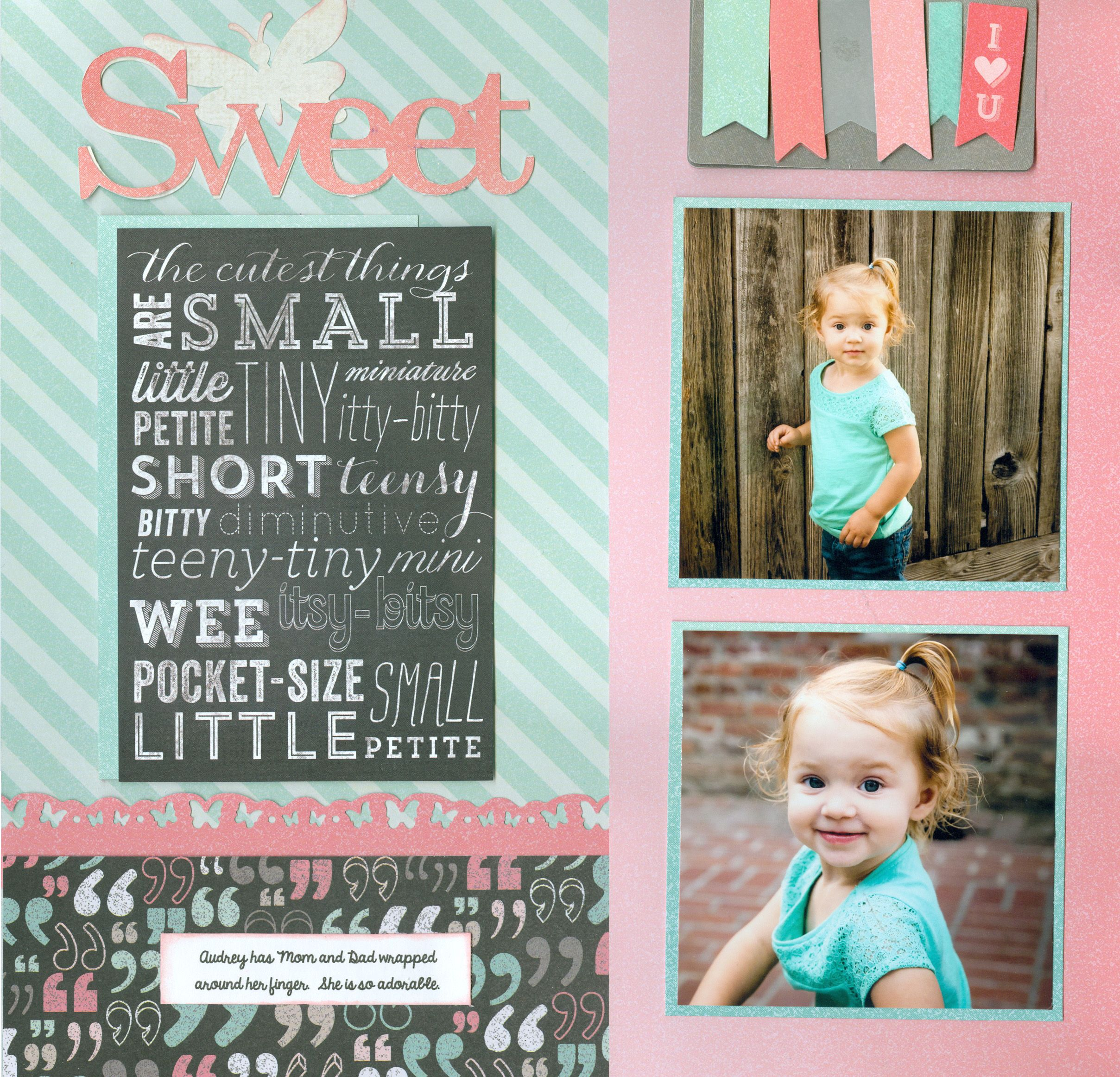 Sweet Audrey pg 2 - Scrapbook.com