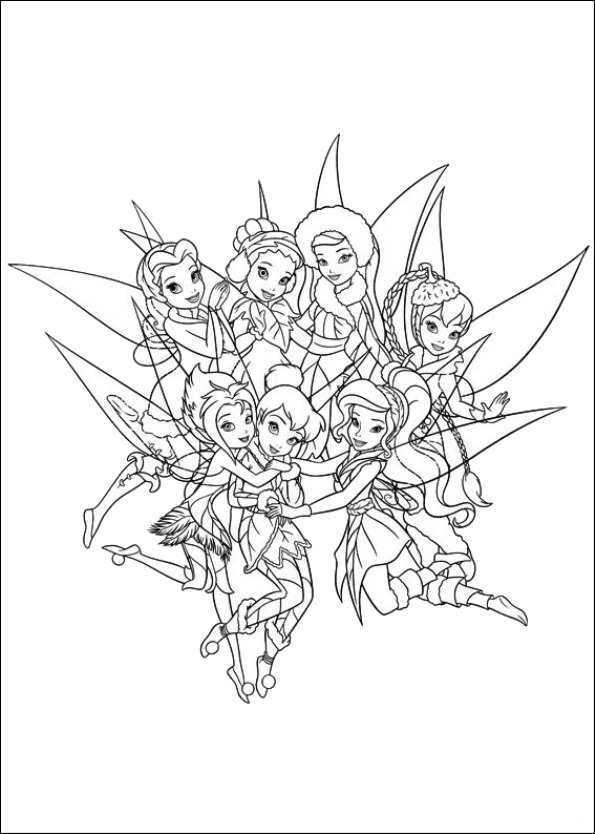 Coloring Page Tinkerbell Secret Of The Wings For My Emma