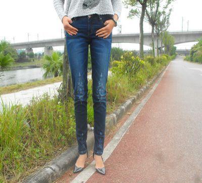 Hot Brand Women boyfriend Jeans Skinny  Middle Waist Jeans for Woman Skinny Cotton S M L - http://www.aliexpress.com/item/Hot-Brand-Women-boyfriend-Jeans-Skinny-Middle-Waist-Jeans-for-Woman-Skinny-Cotton-S-M-L/32319758669.html