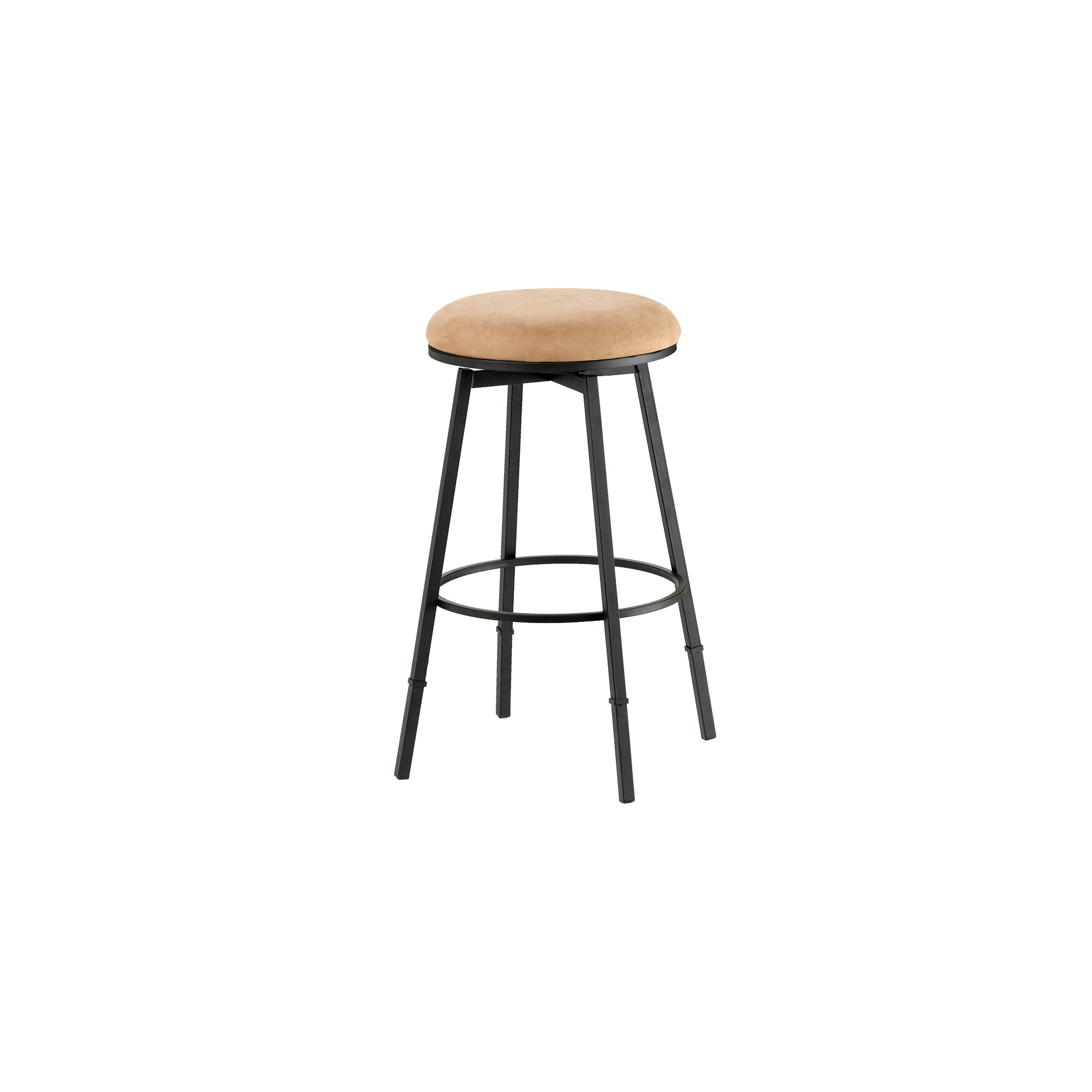 Groovy Sanders Backless 24 Counter Stool Metal Suede Hillsdale Gmtry Best Dining Table And Chair Ideas Images Gmtryco