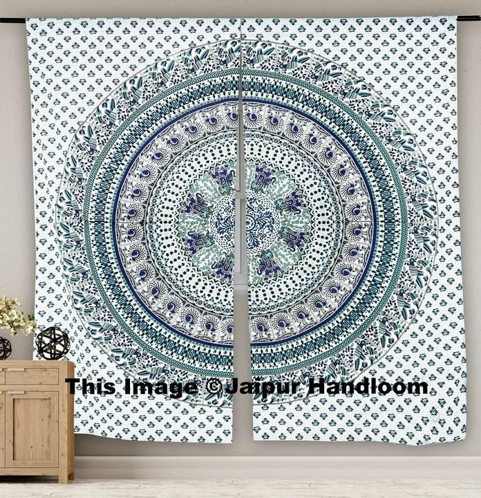 Magical Night Boho 2 Panel Curtain Set Window Drapery Door