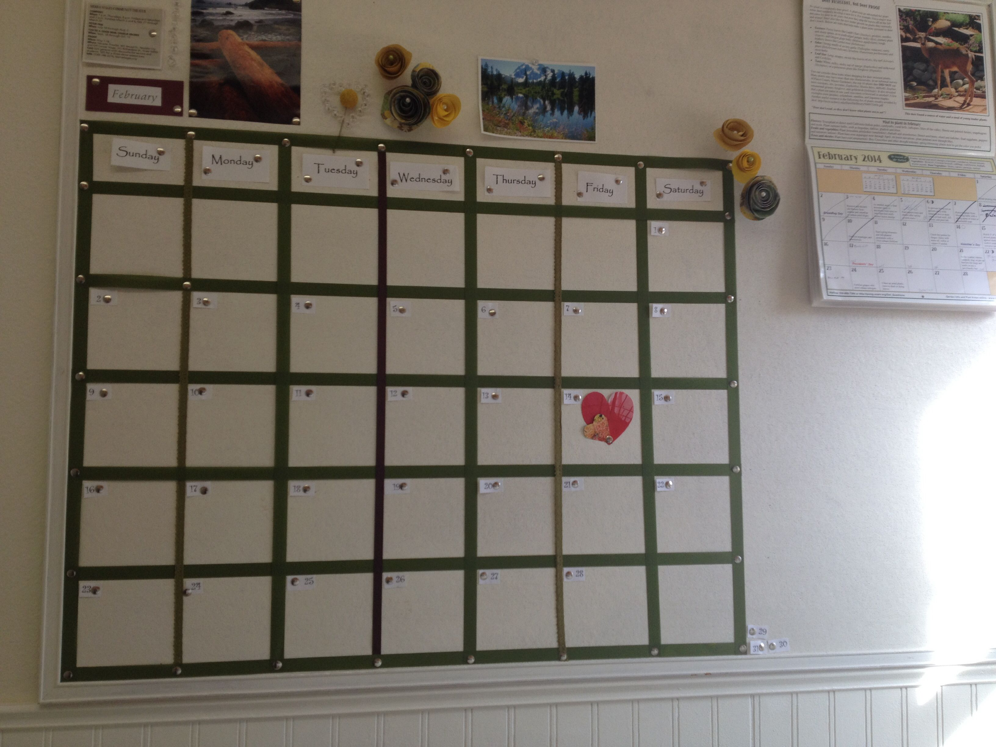 Diy cork board calendar bedroom inspiration pinterest for Diy bulletin board for bedroom