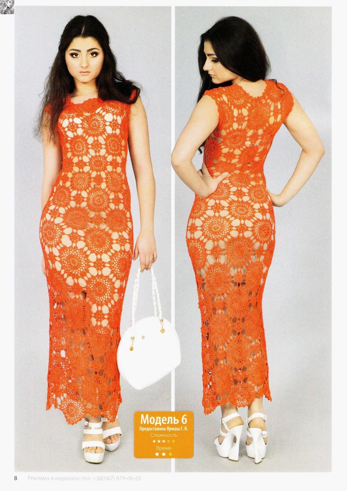 Crochet #maxi #dress - Inspirações de Croche com Any Lucy: Vestido ...