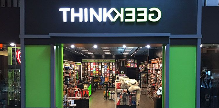huge selection of faf68 187c9 ThinkGeek Storefront Miami Dolphin Mall | Unique Stores ...