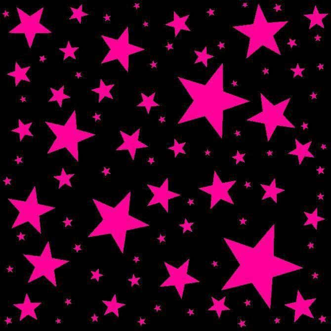 Hot Pink Stars Hot pink background, Phone wallpaper pink