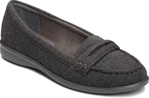 Aerosoles Women's Limon Tree Penny Loafer Dark Gray Combo Fabric Size M,  Grey