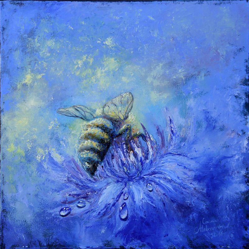 """Biene"" Ölgemälde von Oxana Aleksandrow www.aleksandrow-art.de"