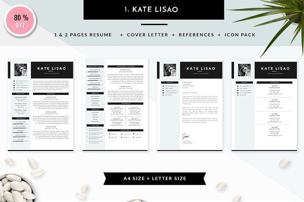 6 in 1 Resume Templates Bundle Vol 1 by GResume on @creativemarket - resume 1 or 2 pages