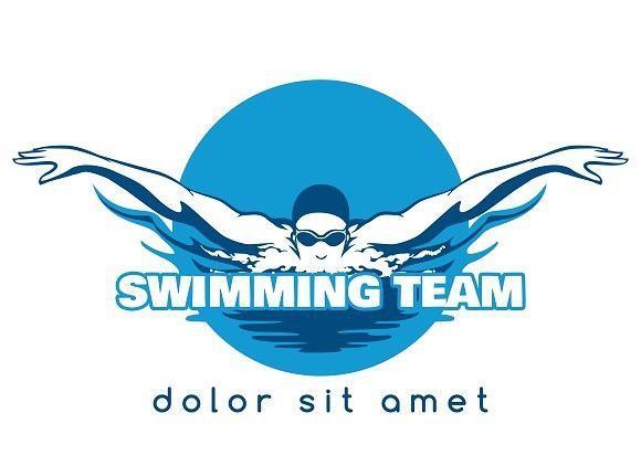 Swimming Team Vector Logo Vector Logo Swimming Swim Logo