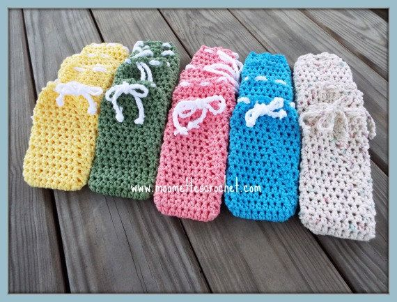 Lot 25 Baby Shower Favor, Bridal Shower Favors, Soap Saver Bags Handmade  Crochet #