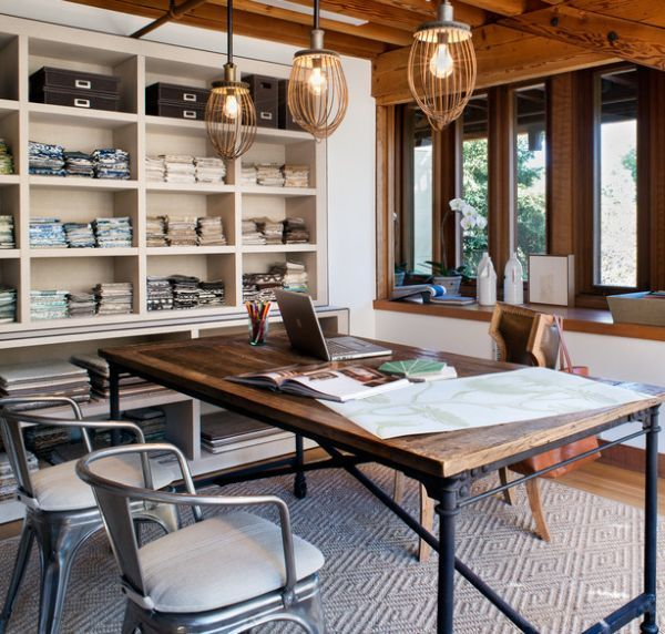 Best 25+ Industrial Home Offices Ideas On Pinterest | Home Office Lamps,  Rustic Home Offices And Home Office