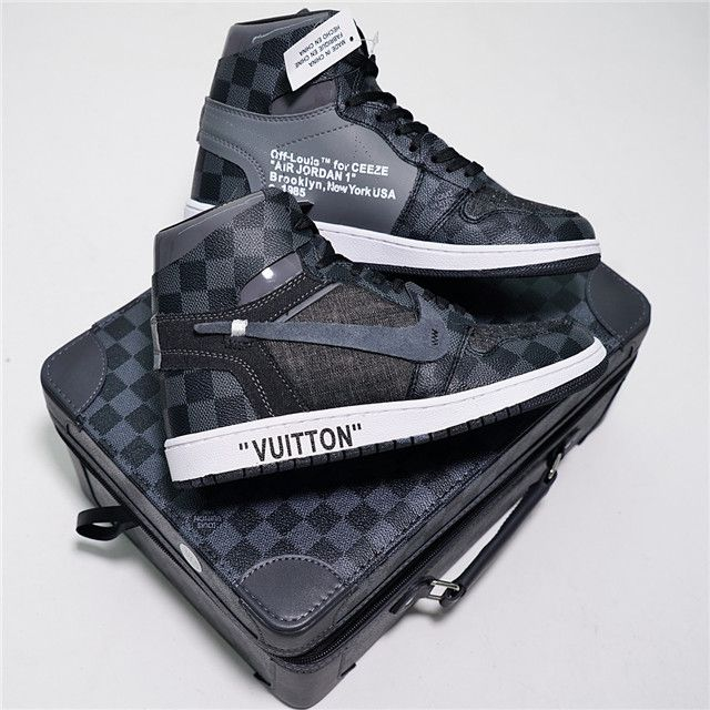 OFF-WHITE x Air Jordan 1 x LV AO0818-001 MK  9558abd250d5