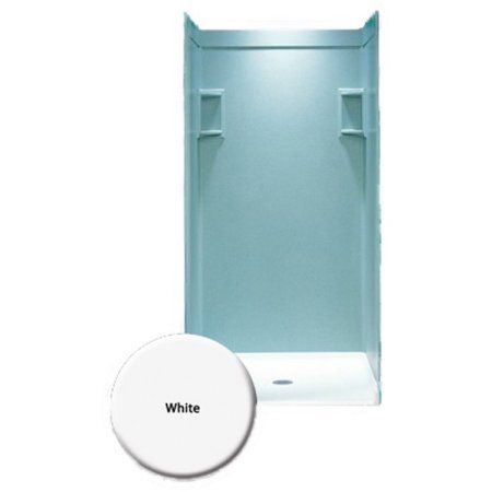 36 in. x 72 in. 3-piece easy up adhesive shower wall panel