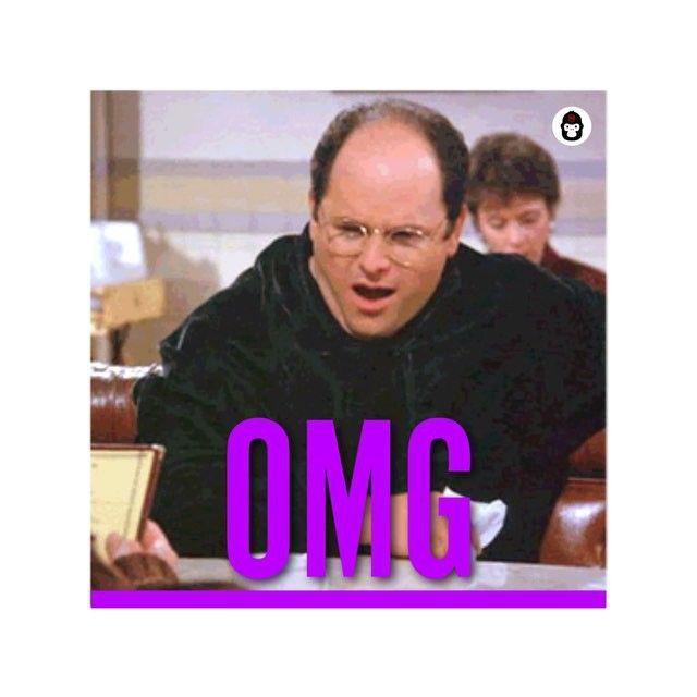 We are all George Costanza. New #GIF in #OMG Pack. Send to #squad on #chat. Download #app in profile. #seinfeld #georgecostanza #sitcom #bald #omfg #kramer #laugh #whatsapp #imessage #message #line #kik #viber #tech #startup #meme #lol #comedy #funny #emoji #digitalsticker #mojilab