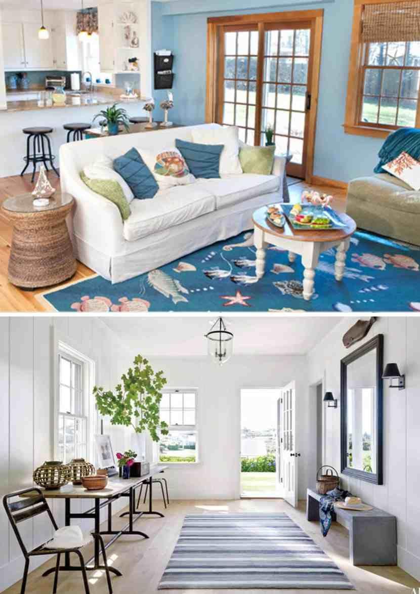 Sua casa com decoração Náutica - tapete azul. Amo Decoração náutica ...