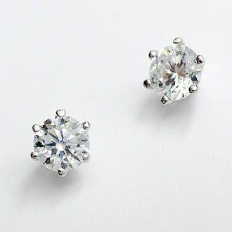 Simple Diamond Stud Silver Earrings For Women Dc23e348 5 75