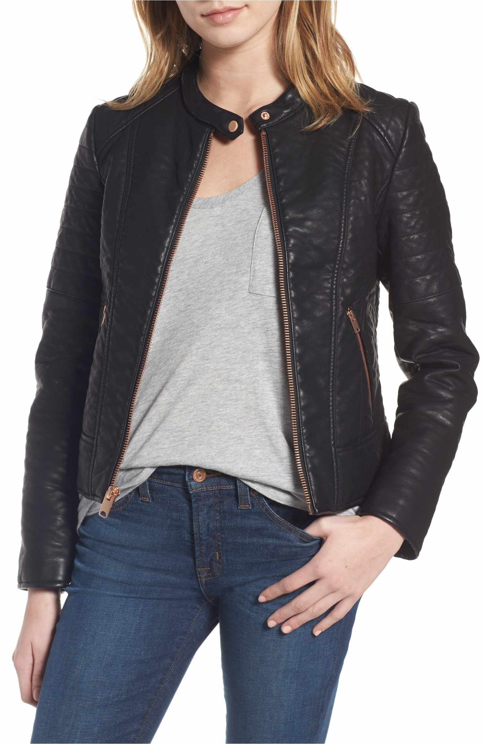 Main Image Andrew Marc Blakely Faux Leather Jacket