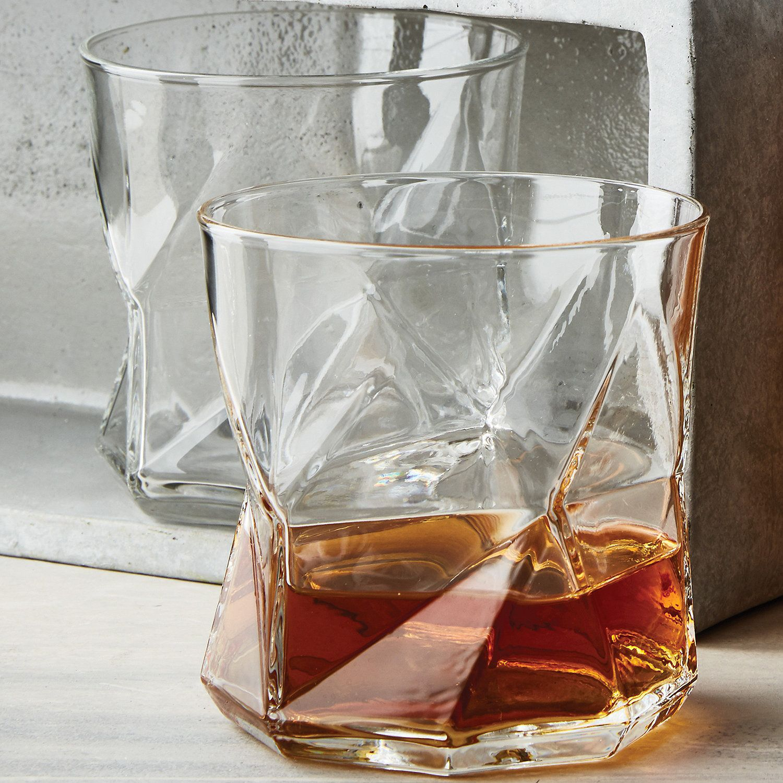 Geo Whiskey Glasses Set Of 4 Wine Enthusiast Cibo E Bevande