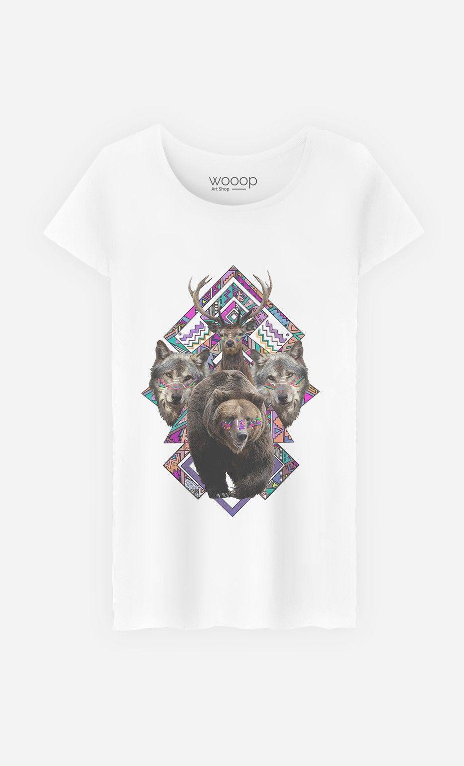 T-Shirt Femme Nanukkk by Kris Tate | Art Shop | Wooop.fr