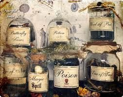Great blog for Apothecary jar ingredients.