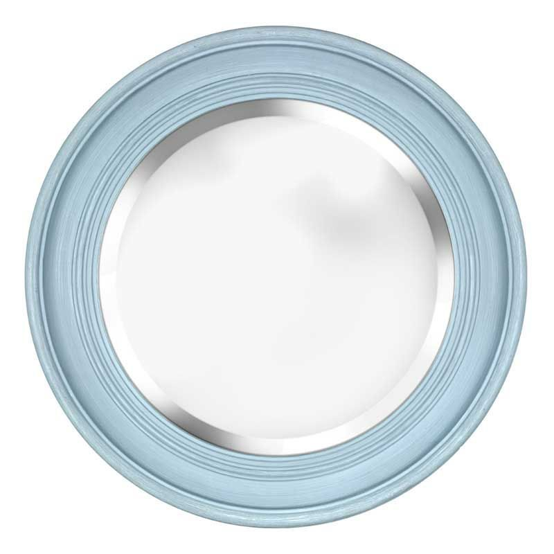 Blue Wall Mirror the penrose sea blue round mirroralmond street is handpainted