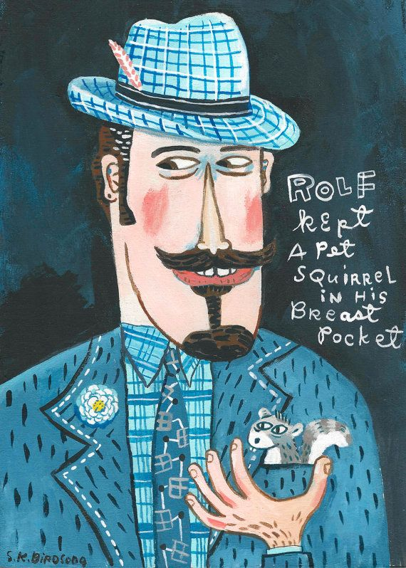 It's Rolf. A limited edition giclee print of by StephanieBirdsong