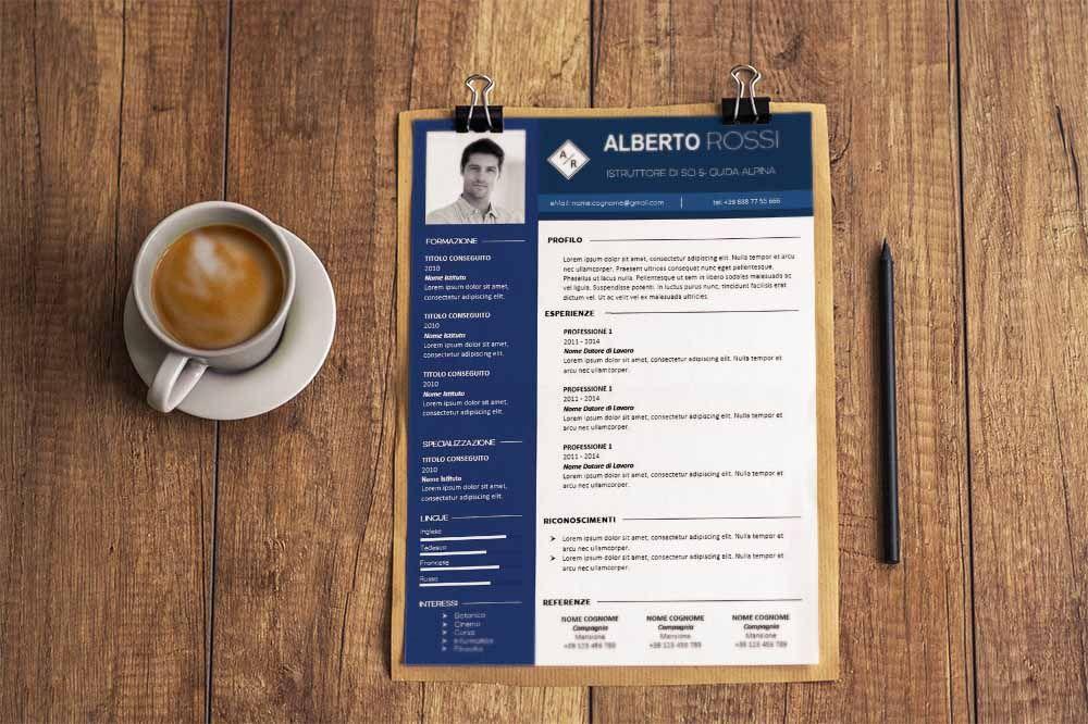 Modello Curriculum Da Scaricare E Compilare Formato Conti Ad Una O Due Pagine Con Lettera Di Presentazione Curriculum Vitae Lettera Di Presentazione