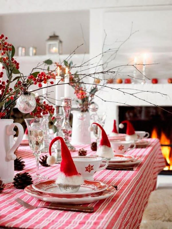 Christmas Table Setting Ideas Uk.Heart Handmade Uk Red And White German Christmas Holiday