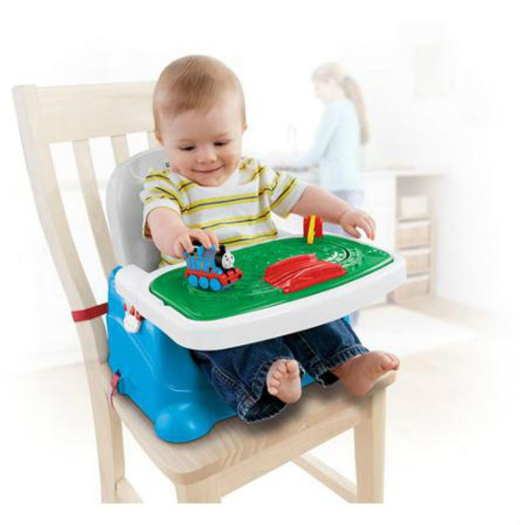 play baby booster seat feeding chair tray toy set toddler boy portable folding baby booster. Black Bedroom Furniture Sets. Home Design Ideas