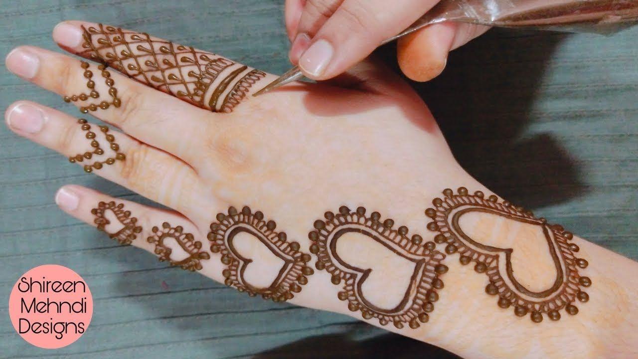 Latest Simple And Stylish Mehndi Design Heart Jewellery Mehndi Design Desain Henna Mehndi Designs Mehndi