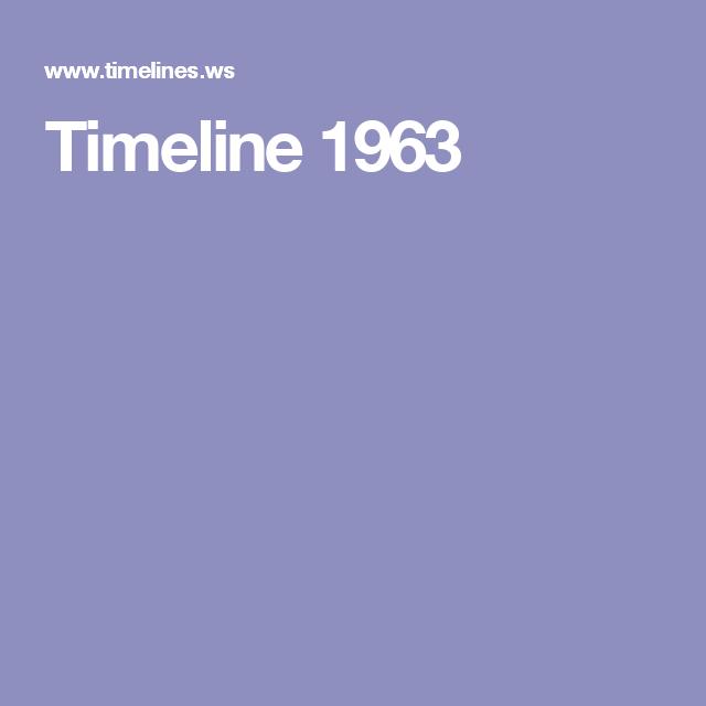 Timeline 1963