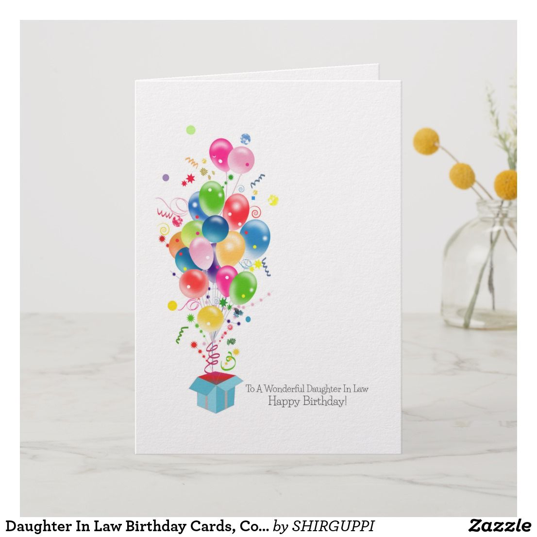 Daughter In Law Birthday Cards Colorful Balloons Card Birthday