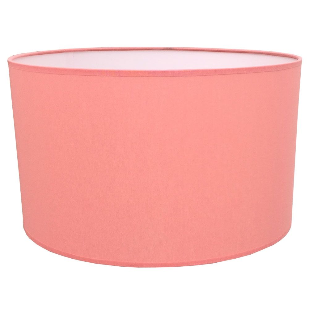 Drum table lampshade in coral cotton drum lampshade collection drum lamp shades 1 of 1 imperial lighting aloadofball Images