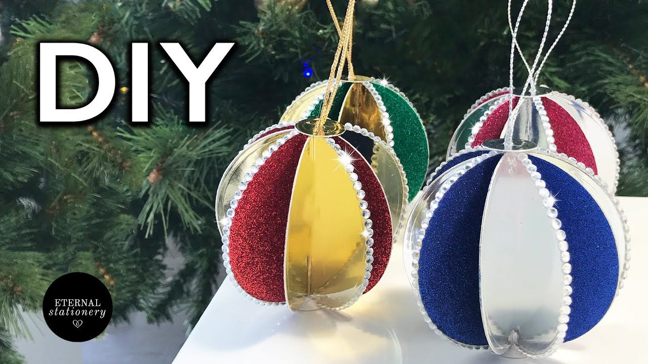 Diy Christmas Tree Decorations With Paper Easy Christmas Ornament Youtube Christmas Tree Decorations Diy Simple Christmas Easy Christmas Ornaments