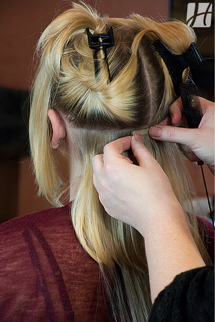install tape in hair extensions
