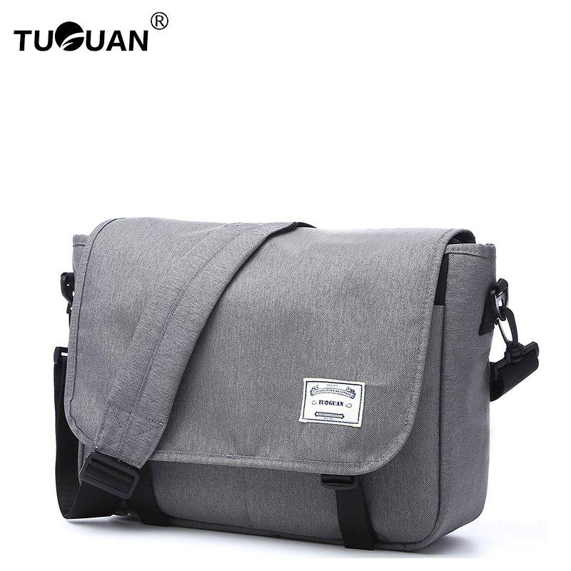 9d320b19b649 TUGUAN classic 13.3 laptop messenger bag cross body bags men male quality  nylon school shoulder