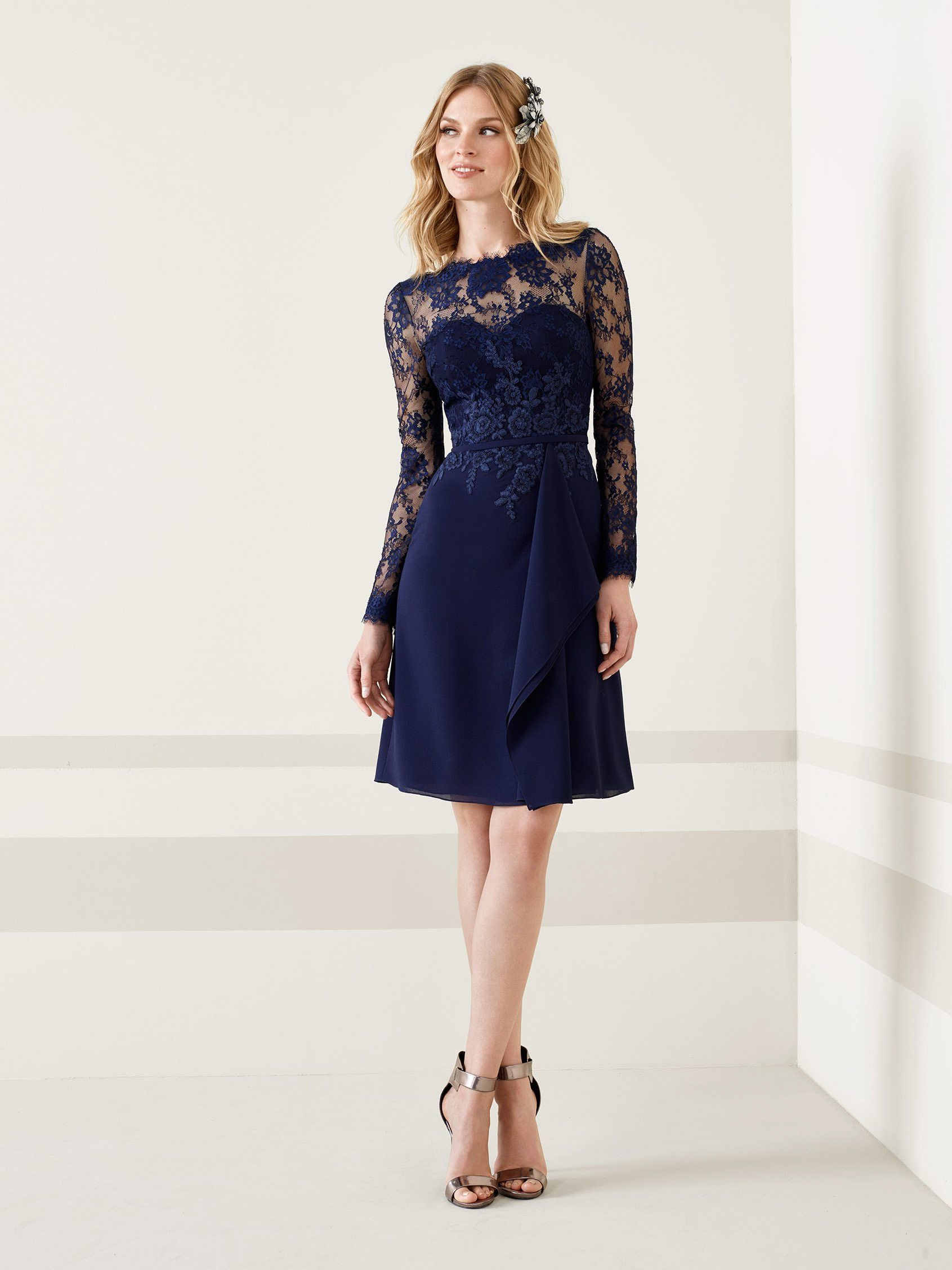 cocktail dress short long sleeve with lace Cocktail Dress in
