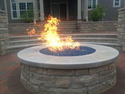 Round fire pit with glass - Round Fire Pit With Glass Mi Casa Pinterest Round Fire Pit