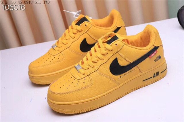 North Face x Nike Air Force 1 Yellow