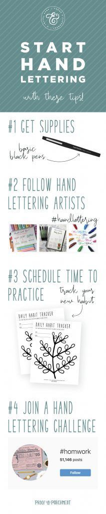 How To Get Started With Hand Lettering  Proof  Parchment